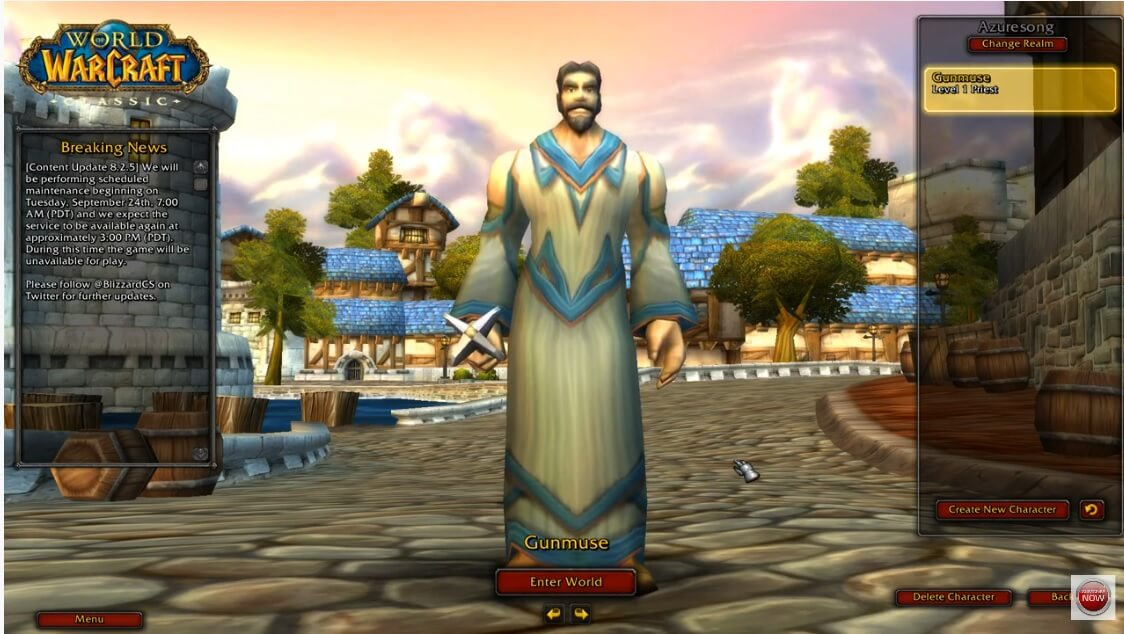 World of Warcraft Classic Leveling a Human Priest Levels 1 – 5